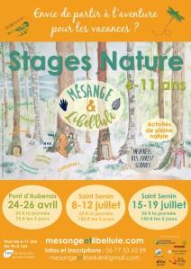 Affiche Stages Vacances printemps été 2019 2019-03-08