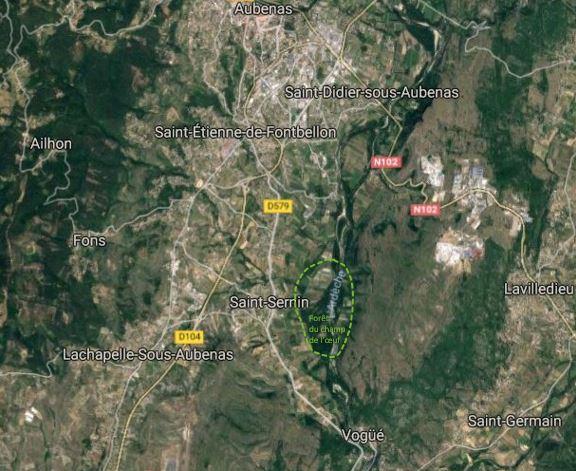 carte forêt