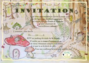 invitation anniversaire buissonnier cabanes