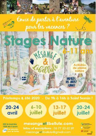 Affiche Stagesprintemps été 2020